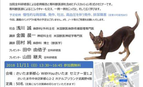 獣医師向け 神経科×麻酔科ジョイントセミナー開催決定!